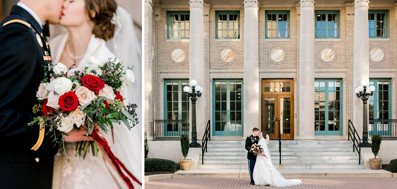 The Historic Post Office for Coastal Virginia holiday wedding