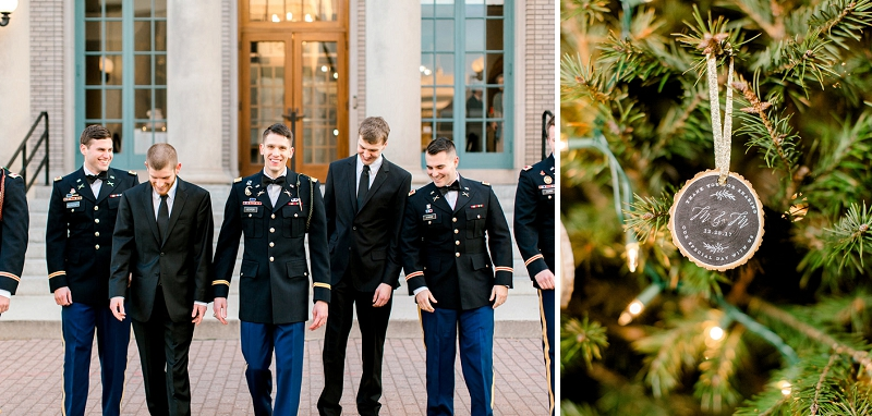 Military wedding in December for festive celebration