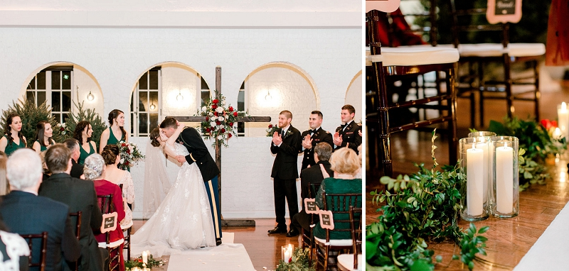 Romantic holiday wedding at The Historic Post Office in Hampton Roads Virginia