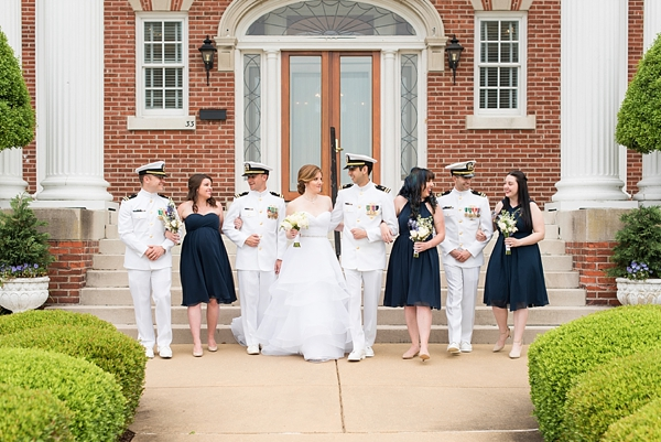 Classic military wedding at Fort Monroe in Hampton Virginia