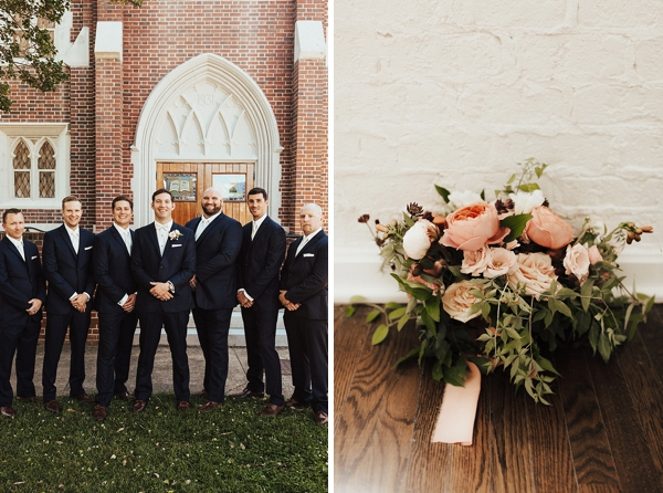Gatsby inspired groomsmen for Art Deco wedding