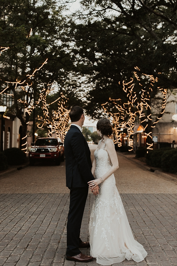 Magical twinkling lights for vintage glam wedding in Hampton Roads Virginia