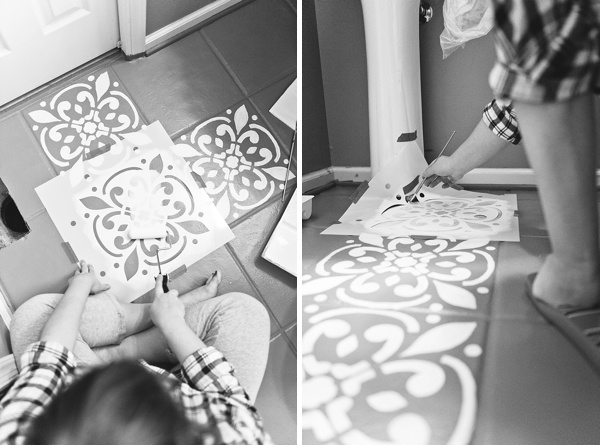 Tips on stenciling your ceramic floor tile