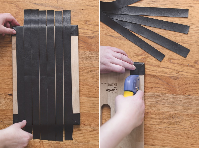 How to weave leather for IKEA Bekvam stool