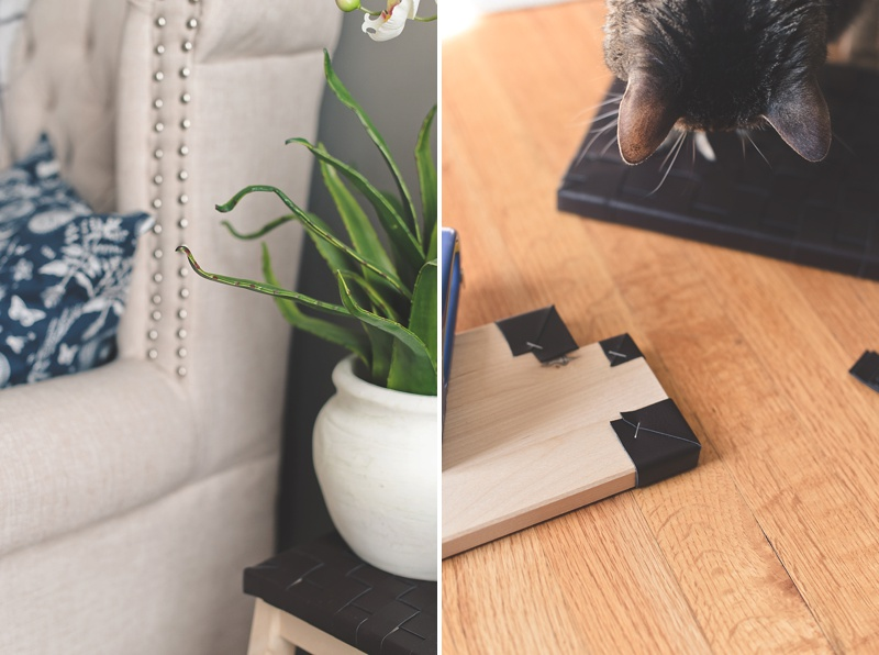 Simple way to upholster corners on wooden IKEA furniture