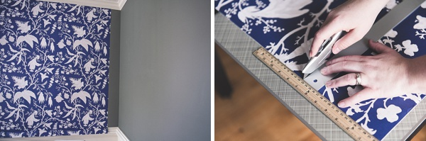 Tips for how to use peel and stick wallpaper in tricky small corners
