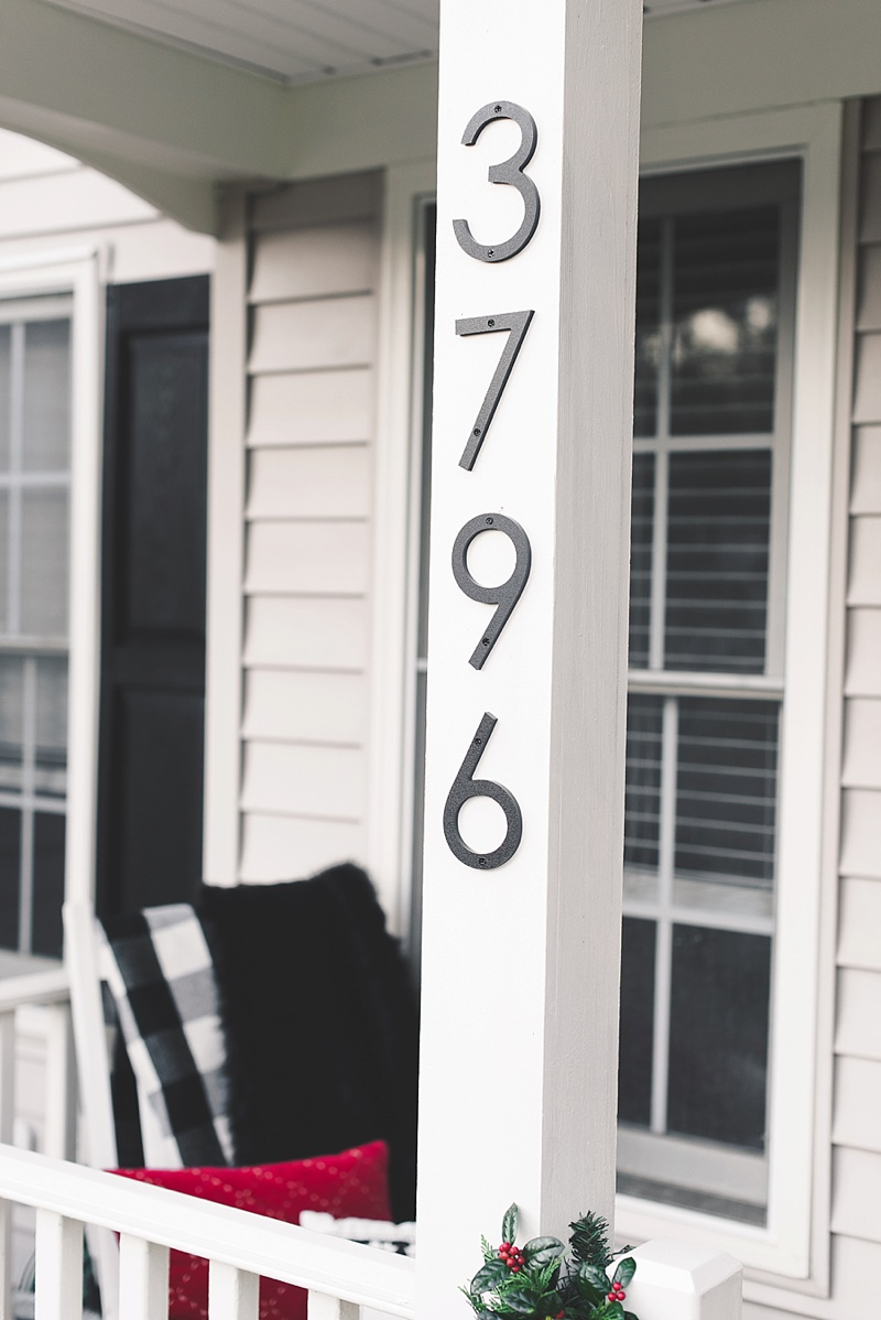 Modern house numbers that are perfect for coastal homes