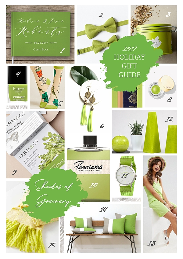 2017 Holiday Gift Ideas Inspired by Pantone Color of the Year Greenery