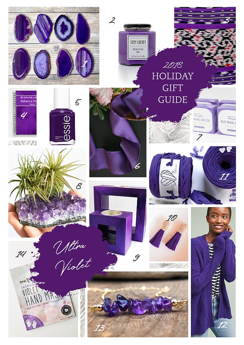 2018 Holiday Gift Ideas Inspired by Pantone Color of the Year Ultra Violet