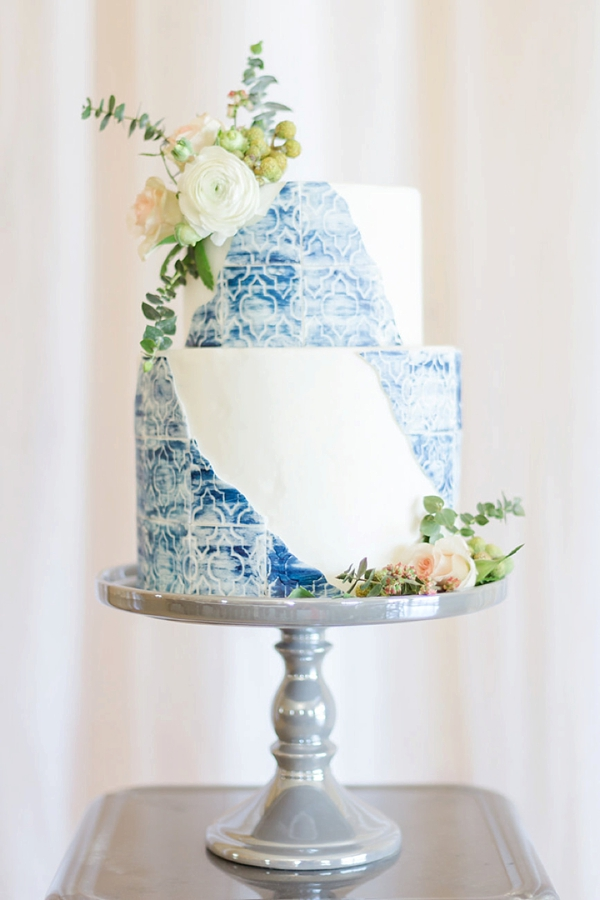 Blue coastal wedding ideas with Moroccan style