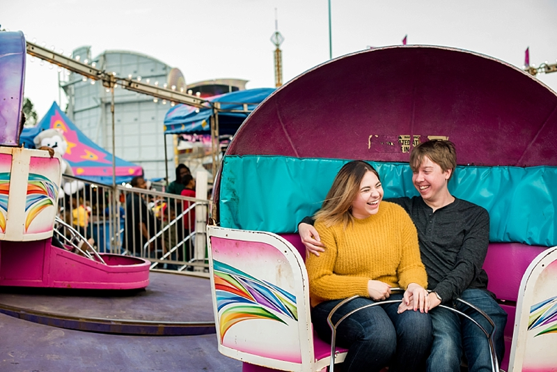 Colorful and fun county fair engagement session ideas in Richmond Virginia