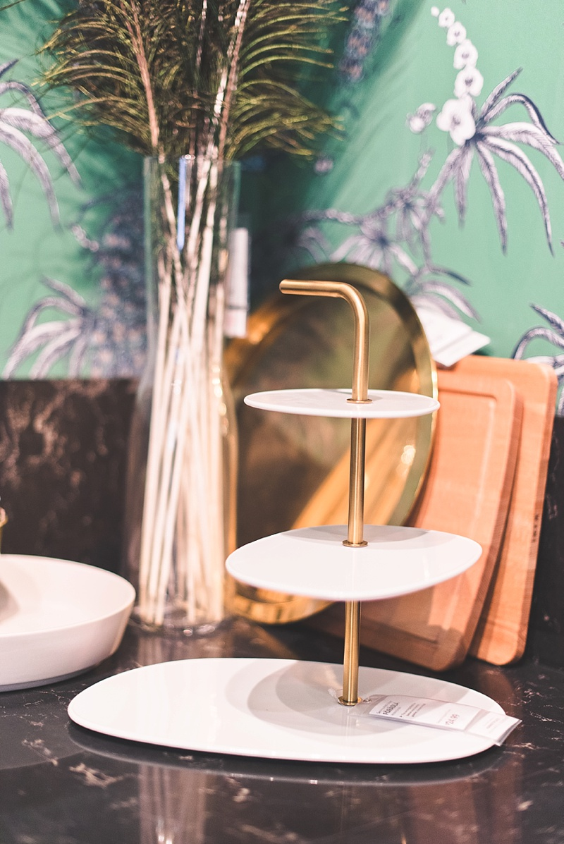 Cool mod 3 tier serving stand from IKEA for wedding cocktail hour