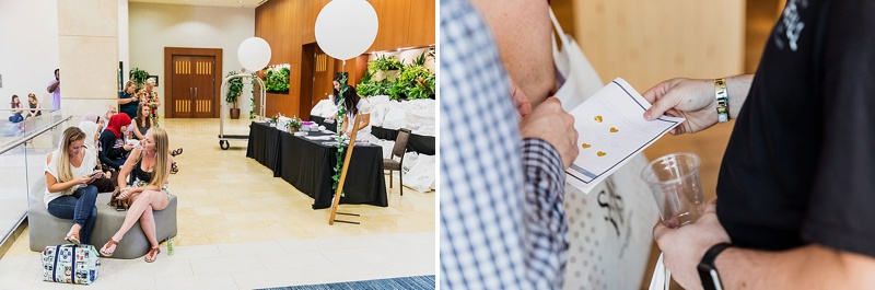 Fresh and interactive wedding event at the Westin in Virginia Beach