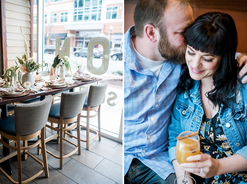 Intimate post wedding brunch at Tupelo Honey in Town Center of Virginia Beach