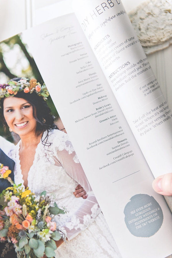 High quality wedding magazine from Virginia