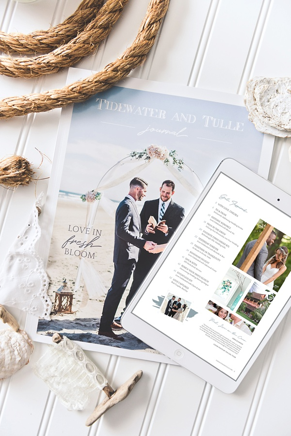 Coastal Virginia wedding vendors in magazine