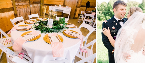 Romantic rustic military wedding at Cousiac Manor barn in Virginia