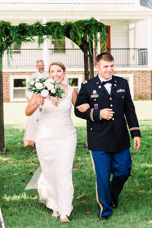 Military wedding at Cousiac Manor in Coastal Virginia