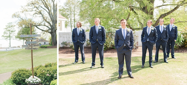 Nautical wedding at James River Country Club in Virginia