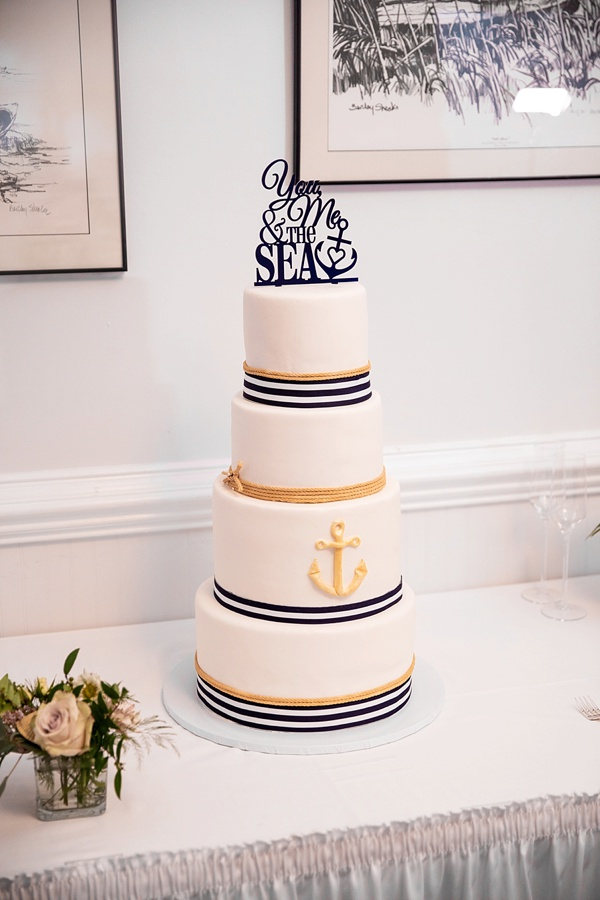 You and Me And The Sea cake topper for nautical wedding cake