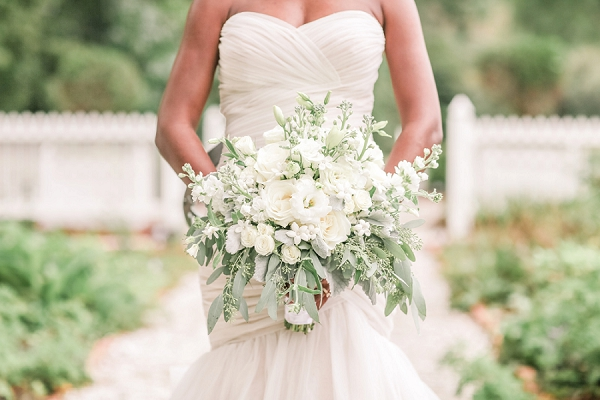 All White Bridal Bouquet in Norfolk Virginia