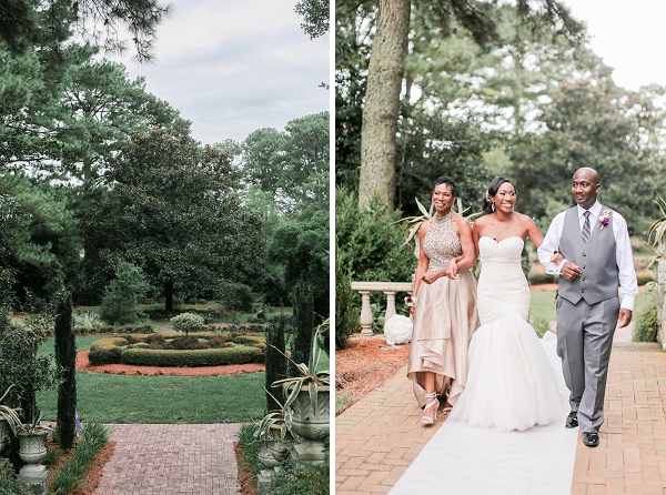 Wedding Ceremony at Norfolk Botanical Garden Virginia