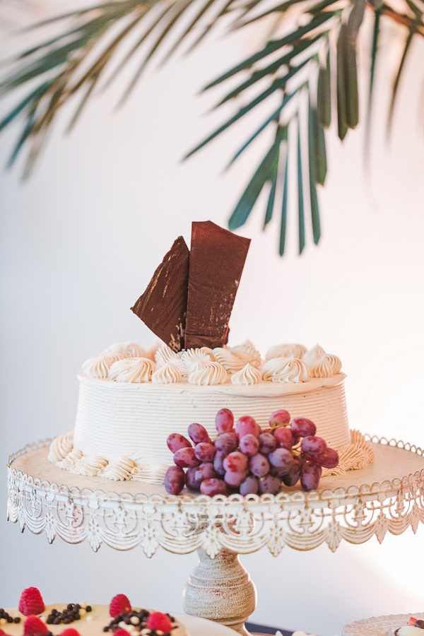 Yummy dessert bar with simple buttercream cake