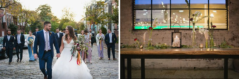 Downtown Norfolk Virginia wedding filled with boho details and walks in the neighborhood