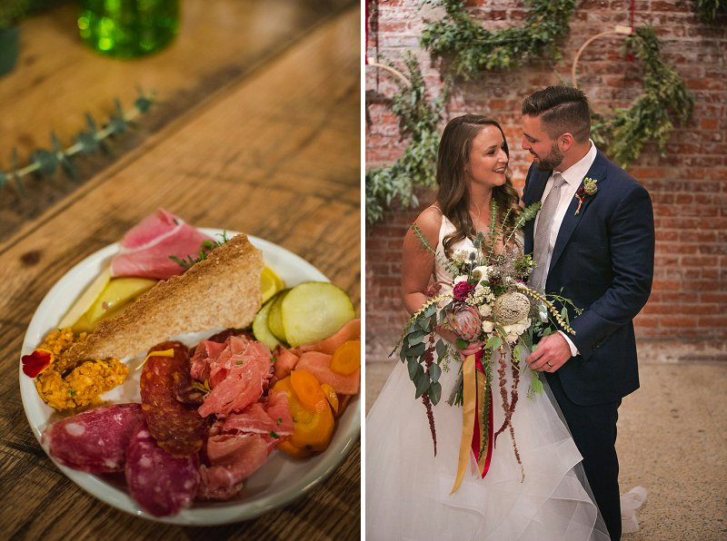 Yummy foodie inspired menu options for a restaurant wedding