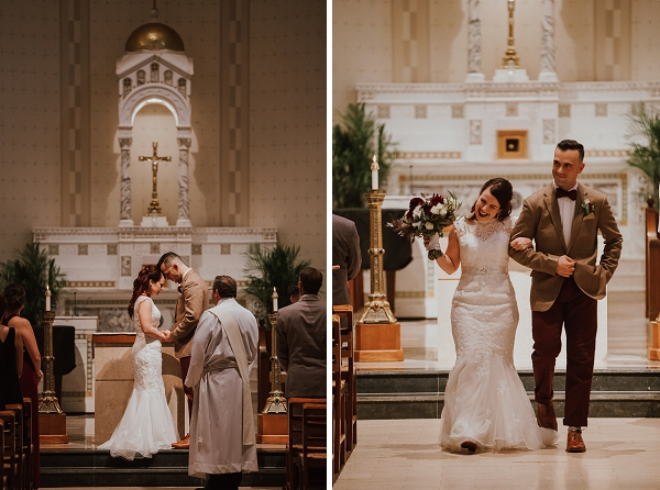 Modern vintage wedding ceremony in Norfolk Virginia
