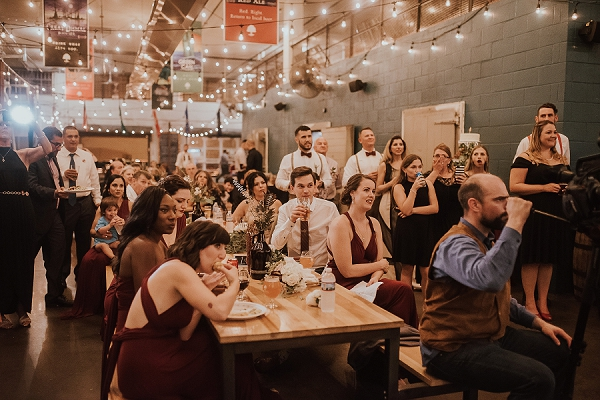 Brewery wedding reception at OConnor Brewing Company in Norfolk Virginia