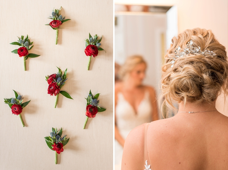 Classic bridal hair updo for garden wedding
