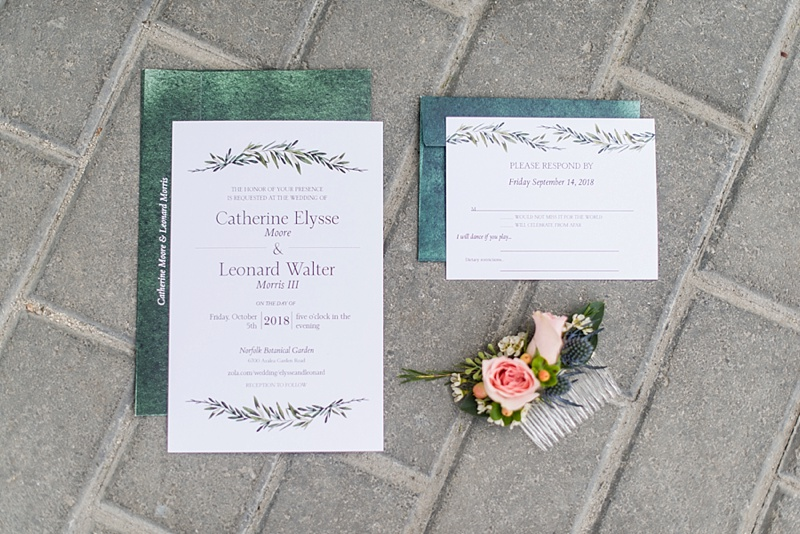 Simple chic garden wedding invitations from Vistaprint
