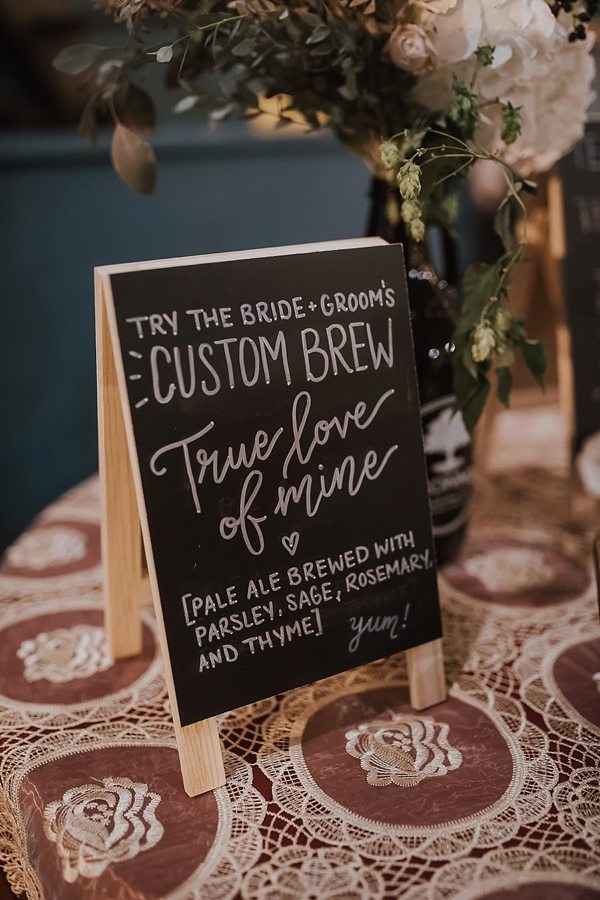 Custom wedding brew for brewery wedding called True Love of Mine
