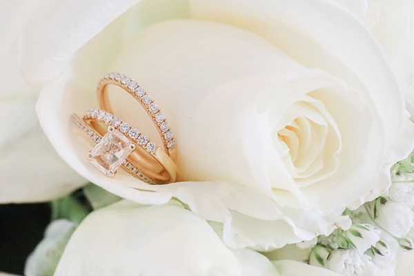 Gold Wedding Rings with Diamond Solitaire in Norfolk Virginia