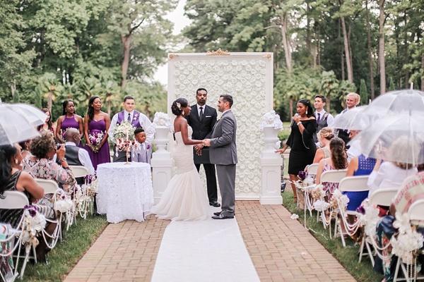 DIY Flower Wall for Wedding Ceremony in Norfolk Virginia