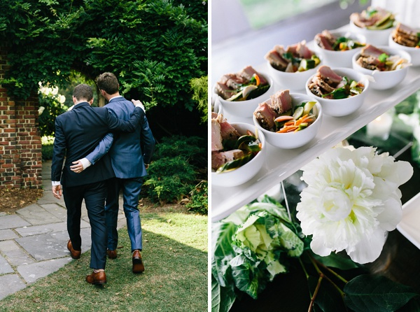 Hermitage Museum and Gardens LGBT wedding with a vintage garden theme