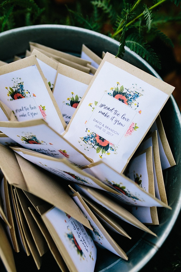 Spread The Love garden seeds as wedding favor