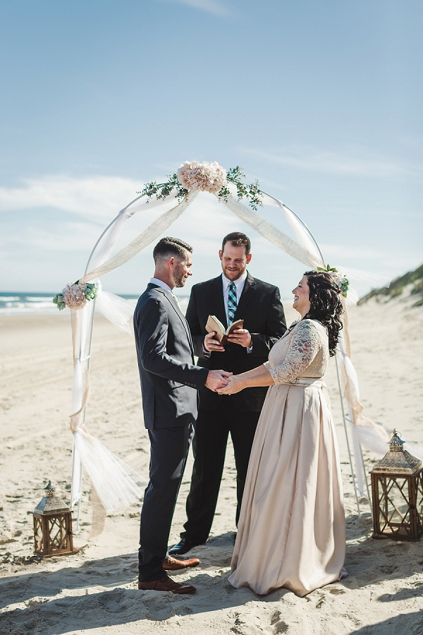Gorgeous intimate wedding at Outer Banks beach house