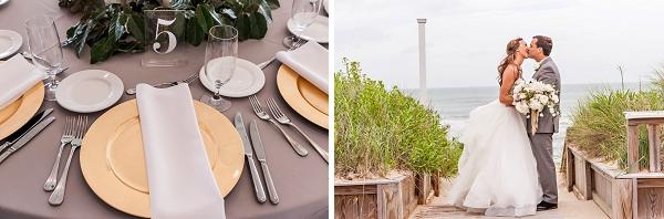 Acrylic table numbers for beach wedding idea