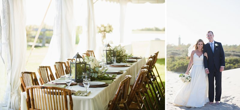 Elegant beach wedding ideas for an outdoor reception under a tent