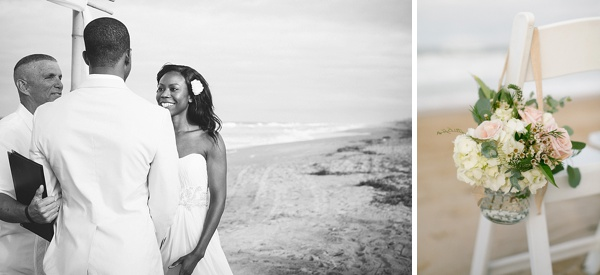 Intimate wedding ceremony in the Outer Banks
