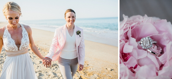 Pink beach wedding ideas for Outer Banks