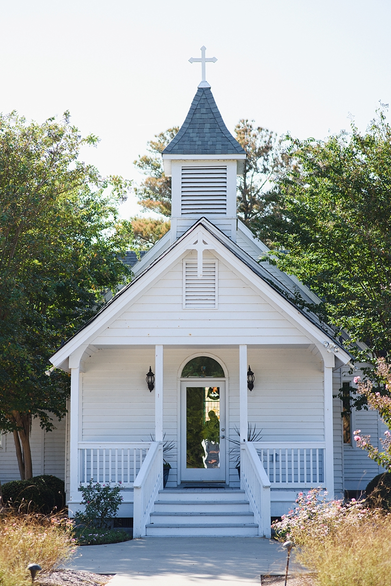 Cutest little wedding chapel in Outer Banks North Carolina