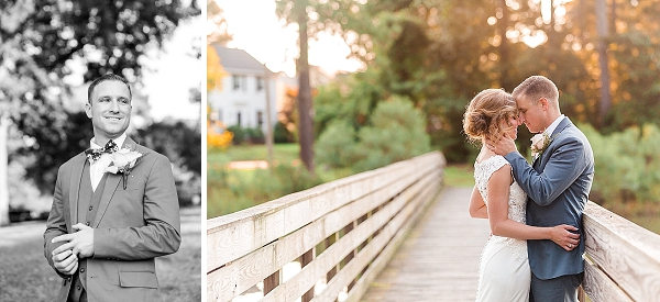 Bride and groom at golden hour in Portsmouth Virginia wedding