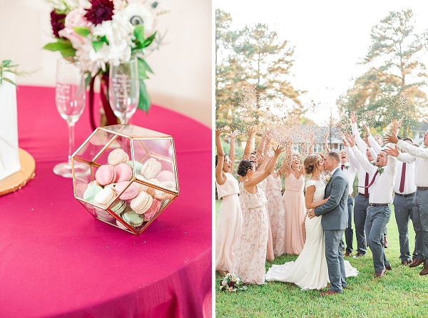 Confetti throw for bride and groom