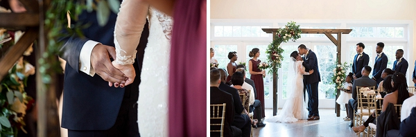 Lovely Womans Club of Portsmouth wedding ceremony details