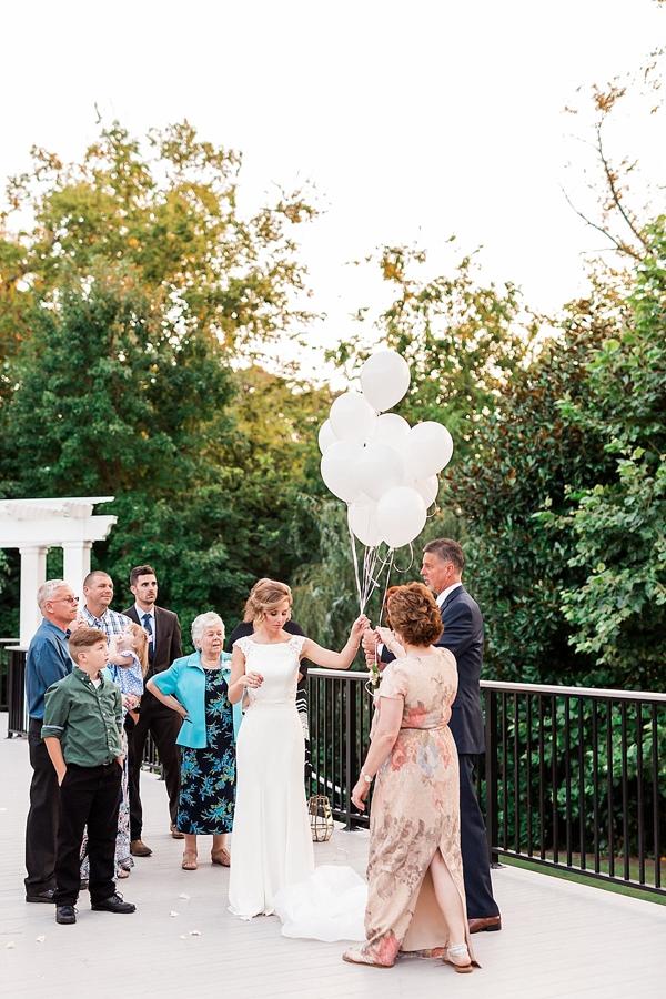 Memorial balloon release for wedding