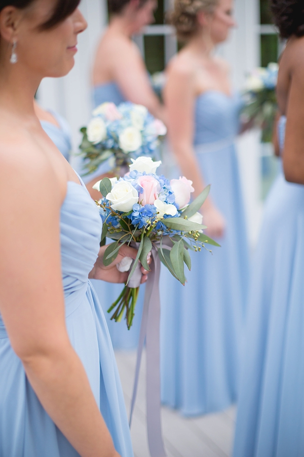 Romantic Periwinkle And Gold Wedding Tidewater And Tulle