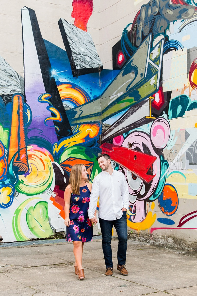 Unique modern engagement session in Richmond Virginia
